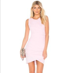 Revolve Light Pink Midi Jersey Dress